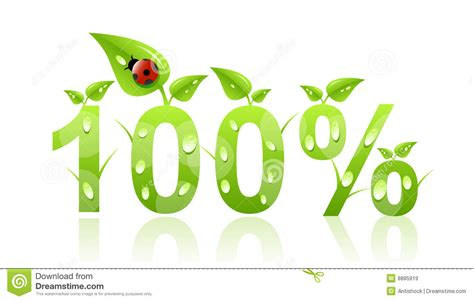 100 Percent Natural Icon Stock Vector. Illustration Of
