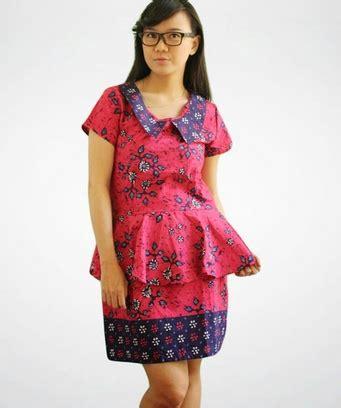 desain dress batik pesta model terbaru