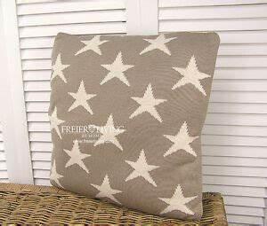Shabby Chic Kissen : wohnzimmer sofa couch deko kissen grau stern french shabby chic impressionen neu ebay ~ Buech-reservation.com Haus und Dekorationen