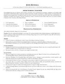 resume templates for highschool students with no work experience sle resume format high teacher resume