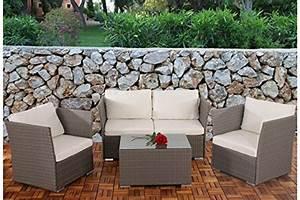 Lounge Garnitur Terrasse : sofa garnitur grau kissen creme polyrattan garten outdoor terrasse lounge couch g nstig kaufen ~ Markanthonyermac.com Haus und Dekorationen