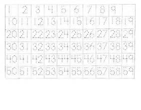 Printable Number 1 50 Worksheet Tracing