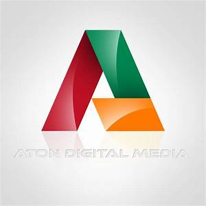 logo design for aton digital media creative portfolio With free logo design letter based