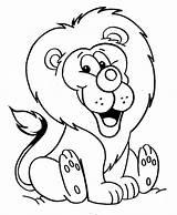 Coloring Lion Pages Coloringville sketch template