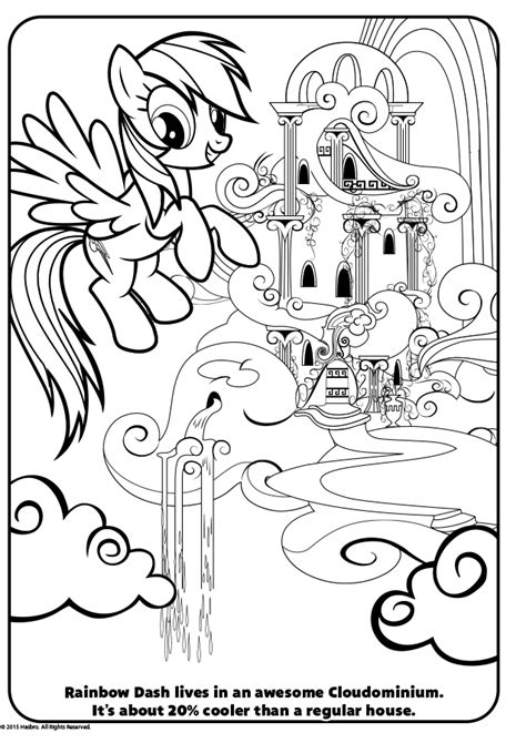 Kleurplaat My Pony Rainbow Dash by Kleurplaat My Pony Rainbow Dash Kasteel