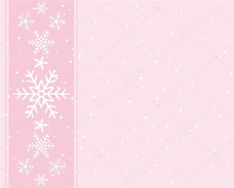 Silver Pink Snowflake Background by Sweet Light Pink Snowflakes Background Greeting Card For