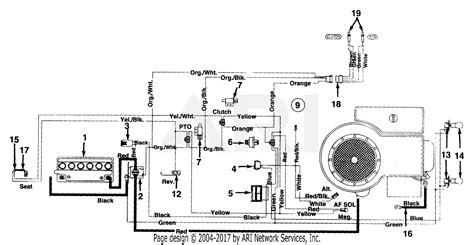 Cub Cadet Electrical Diagram For Solenoid by Mtd 135a606g190 Lawn Tractor Lt 135 1995 Parts Diagram