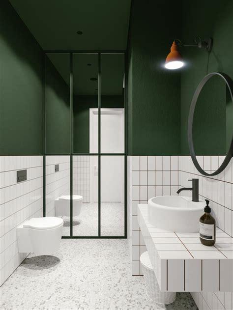 idees pour une salle de bain avec verriere