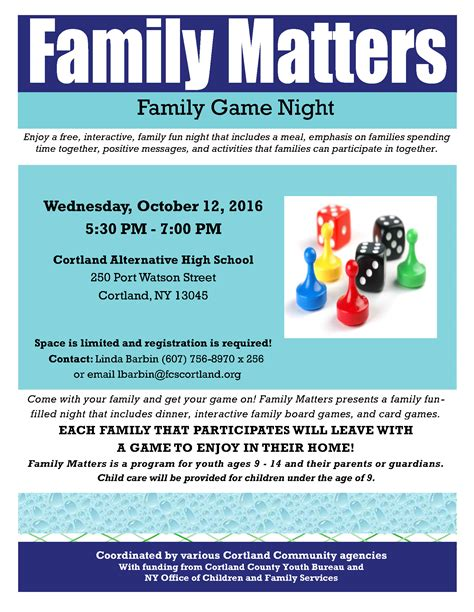 Family Game Night Coming October 12!  Family Counseling. Cd Label Template Psd. Community Service Timesheet Template. Cold Calling Script Template. Lunch Menu Template. College Graduation Cords Meaning. Free Job Estimate Template. Electronic Save The Date. Best Resignation Letter Effective Today