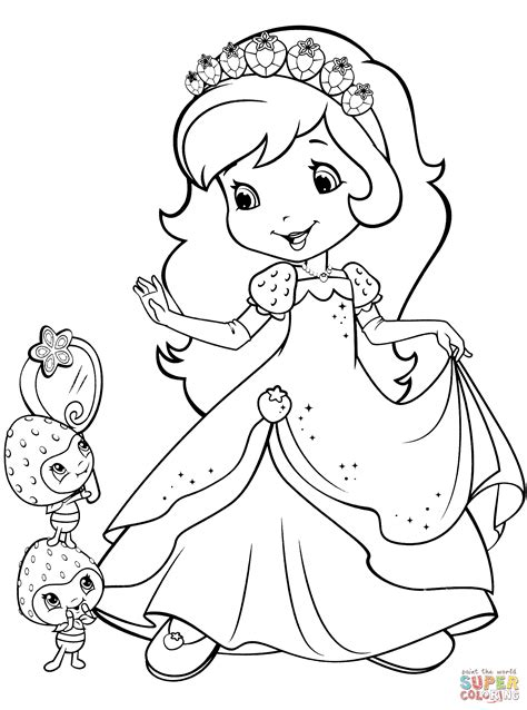 strawberry shortcake  berrykins coloring page