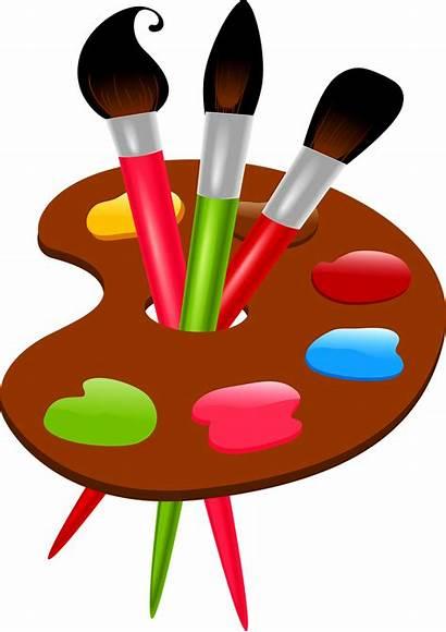 Paintbrush Paint Transparent Clipart Clip Wheel Brush