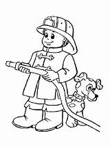 Firefighter Coloring Pages Printable Mycoloring sketch template