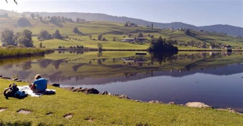 huettnersee huettner lake samstagern canton  zurich