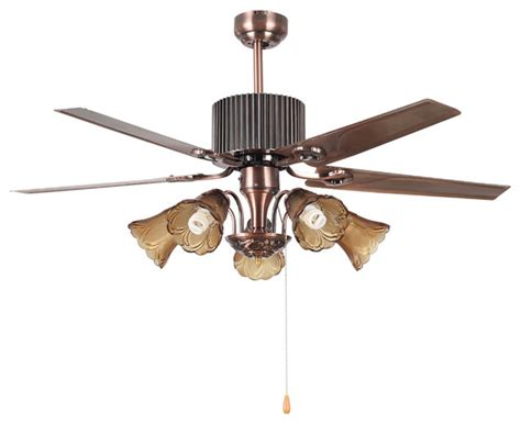traditional brass ceiling fan light with 4 blades modern