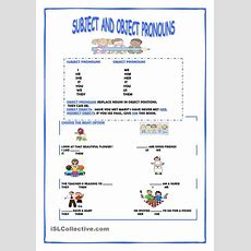 Subject And Object Pronouns  Vocabulary  Pinterest  Printables, Studentcentered Resources