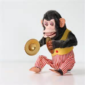 Vintage Toy Monkey with Cymbals