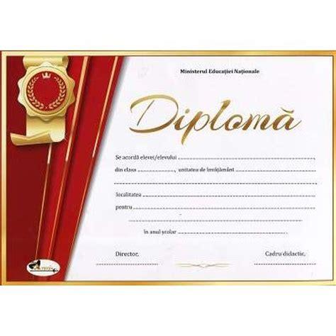 Diploma Format by Diploma Format A4 Model Imagine Academica Rosu