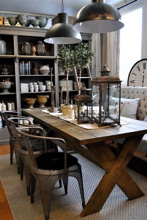 design ideas  decorating industrial dining room
