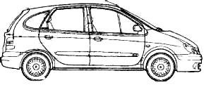 2001 renault megane scenic minivan blueprints free outlines