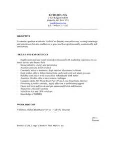 personal support worker resume exle resume psw