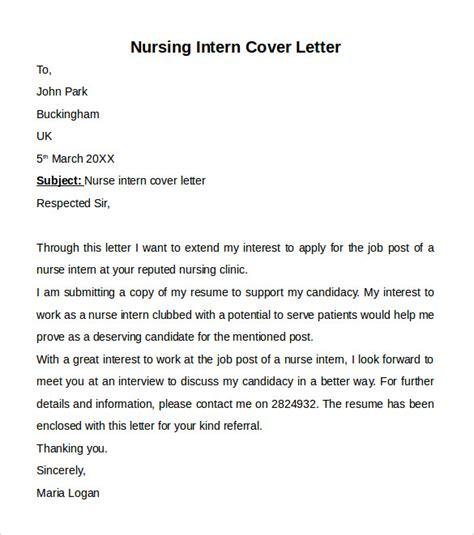 nursing internship resume template nursing cover letter template 9 free sles exles formats