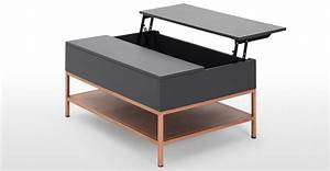 lomond lift top coffee table with storage grey and copper With grey coffee table with storage