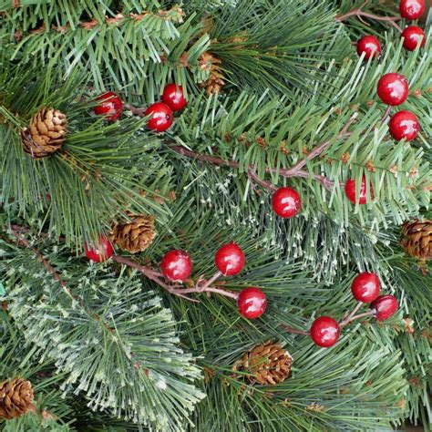 christmas tree with berries and pine cones home 7 5 ft unlit decorated yonkers pine cones tree pppa avi depot much more