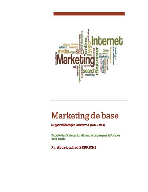 abdelouahed berrichi marketing de base 2014 2015