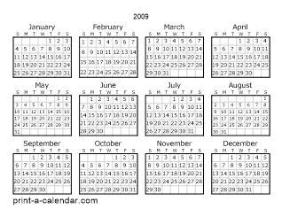 2019 Calendar Printable One