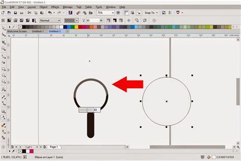 tutorial membuat lens effect efek lensa  corel