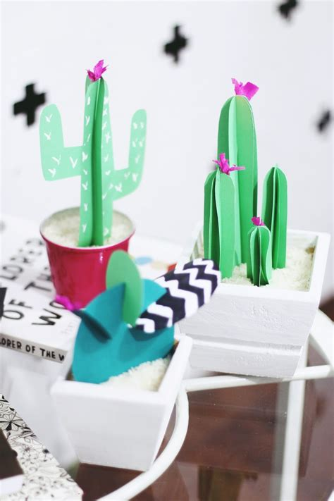 diy paper cactus  cheap decor   surprisingly