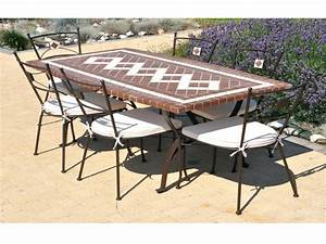 Table De Jardin Fer Forgé : table de salon de jardin fer forg seaandsea ~ Louise-bijoux.com Idées de Décoration
