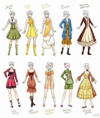 Clothes Female Meago Various Deviantart Designs Anime