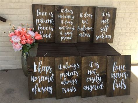 wedding quotes love  patient love  kind aisle signs