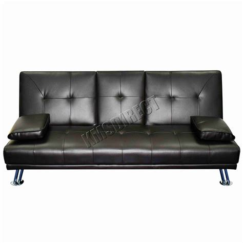 canapé faux cuir faux cuir manhattan sofa lit fauteuil inclinable 3 seater