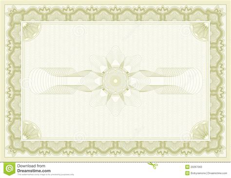 certificate background stock vector illustration