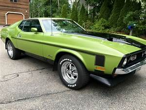 72 Ford Mustang Mach 1 351ci AC Car Runs Perfect! Looks Great! Medium Lime Green for sale in ...