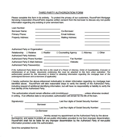 sample  party authorization letter
