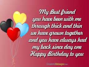 birthday wishes and messages for best friend