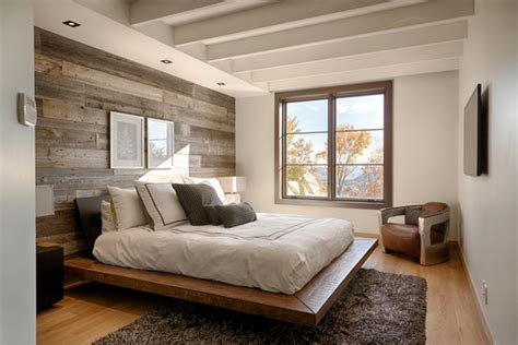 hardwood walls ideas simple bedroom ideas with white wooden beam ceiling and rustic hardwood wall decor lestnic