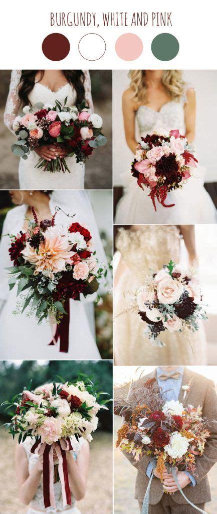 wedding color scheme trends burgundy  white