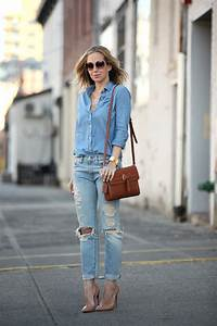 6 Stylish Ways to Wear Your Chambray Shirt u2013 Glam Radar