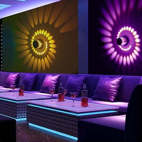 white warm white rgb spiral wall l surface install led wall light scone luminaire ktv