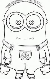 Coloring Minion Pages Stuart Fun Popular sketch template