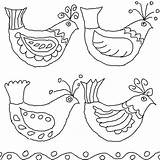 Folk Bird Embroidery Drawings Mexican Birds Queeky Coloring Pages Patterns Drawing Flowers Template Hungarian Bark Pattern Flower Draw Minniemouse Google sketch template