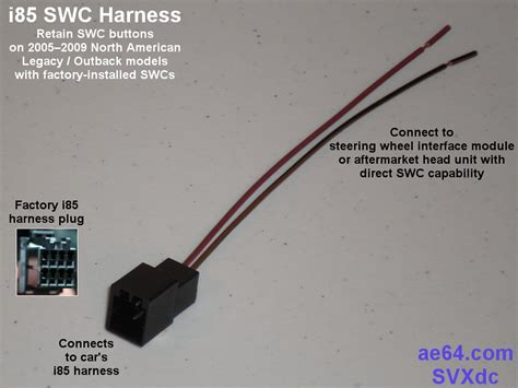 2005 Subaru Outback Wiring Harnes by Parts Needed To Install Aftermarket Unit In 2005