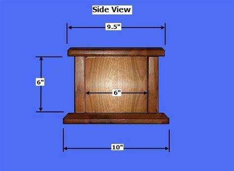wood cremation urn box plans   build wood cremation urns
