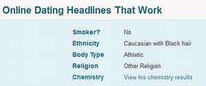 good online dating headlines for men