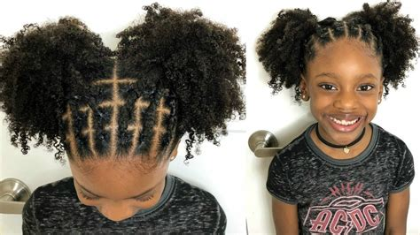kids natural hairstyles rubber band protective style