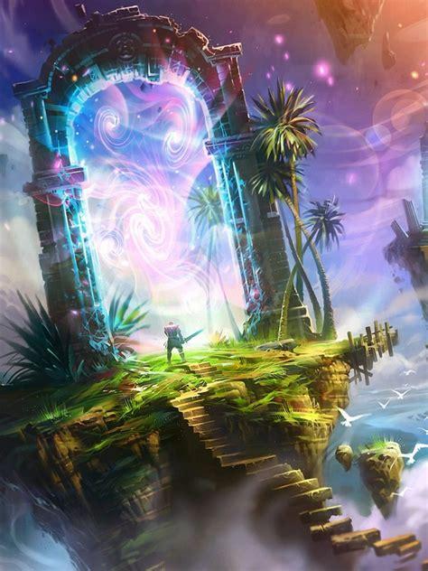 fantasy portal hd wallpaper mthemes